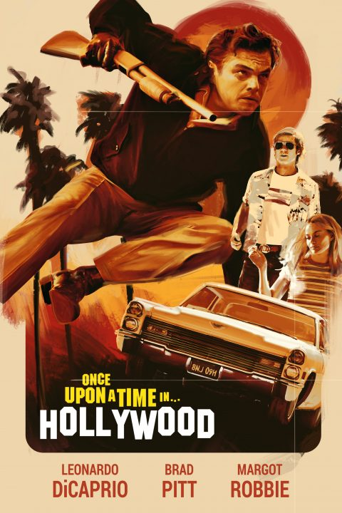 Once Upon a Time in Hollywood Poster Art