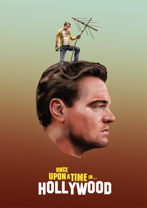 The antenna in his head / painted poster