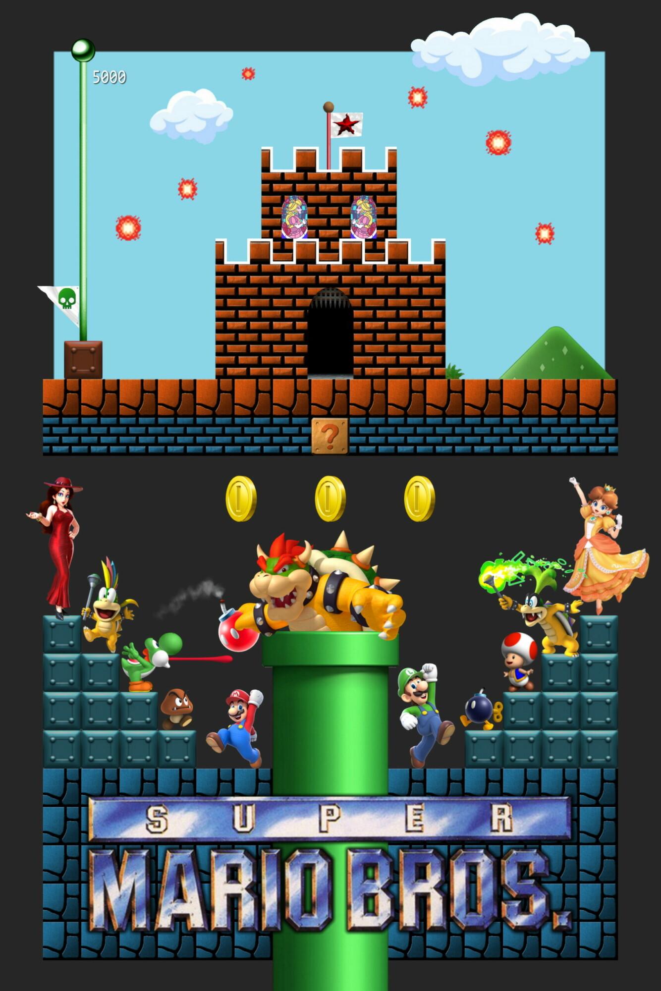 Super Mario Bros This Ain T No Movie Posterspy