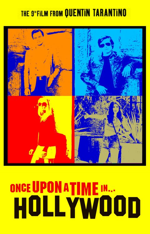 Once Upon a Time In Hollywood (pop art style)