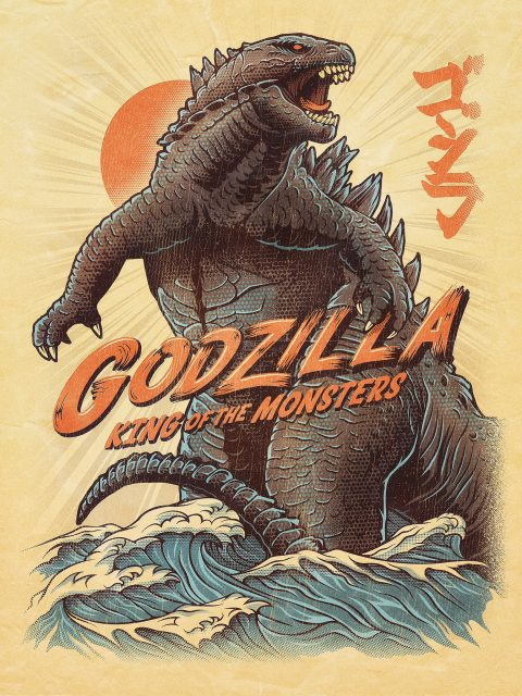 Godzilla: King of the Monsters vector movie poster