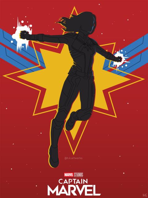 Captain Marvel Vector Poster