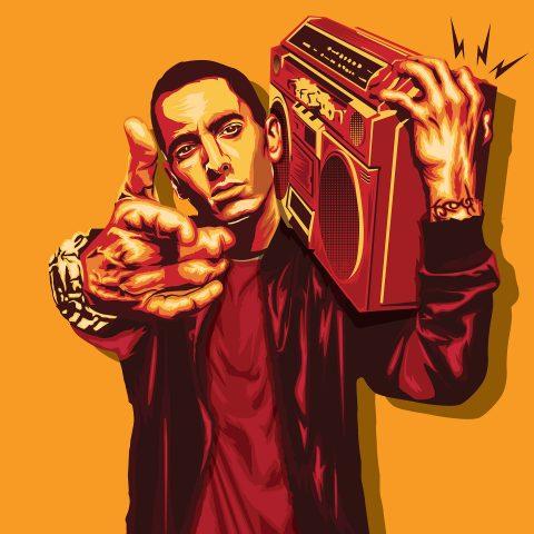 Eminem Illustrated Poster Design