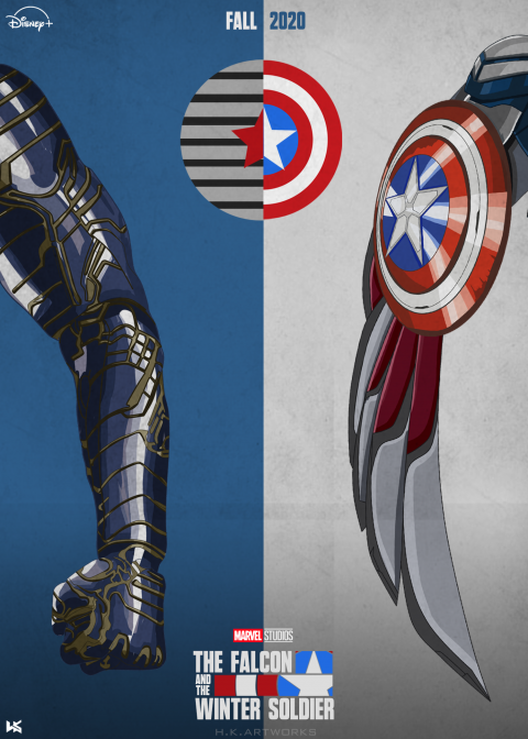 The Falcon and The Winter Soldier Poster Disney+