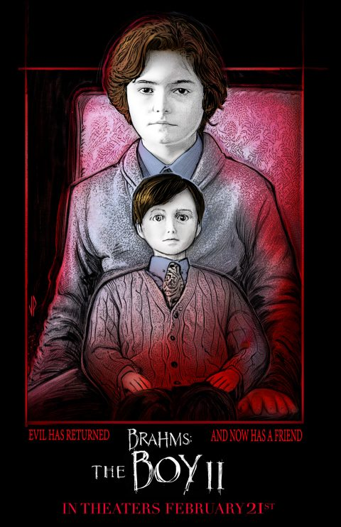 Brahms: The Boy II poster design (red glow version)