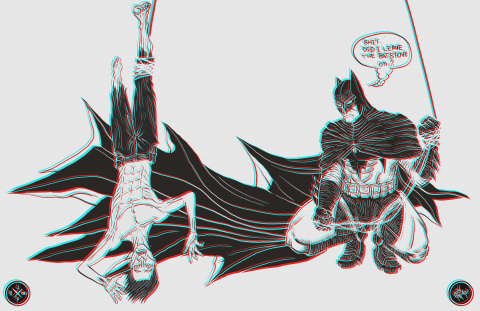 BATMAN DAY SKETCH 2019 (ANAGLYPH VARIANT)