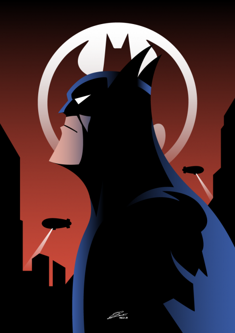 BATMAN Animated Series Poster Art