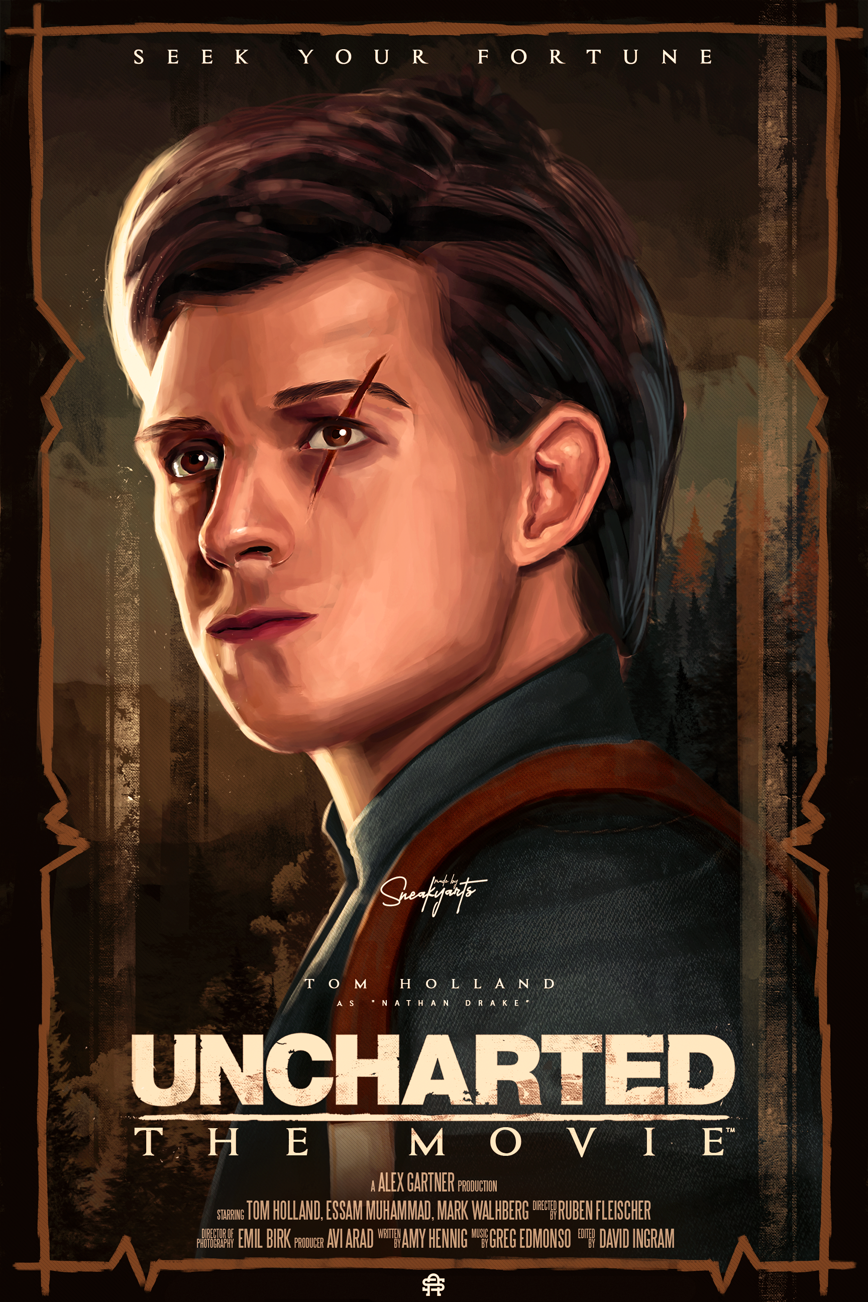 Uncharted Movie Poster By Sneakyarts Posterspy
