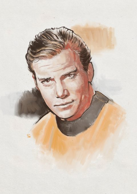 Captain Kirk painty/sketch