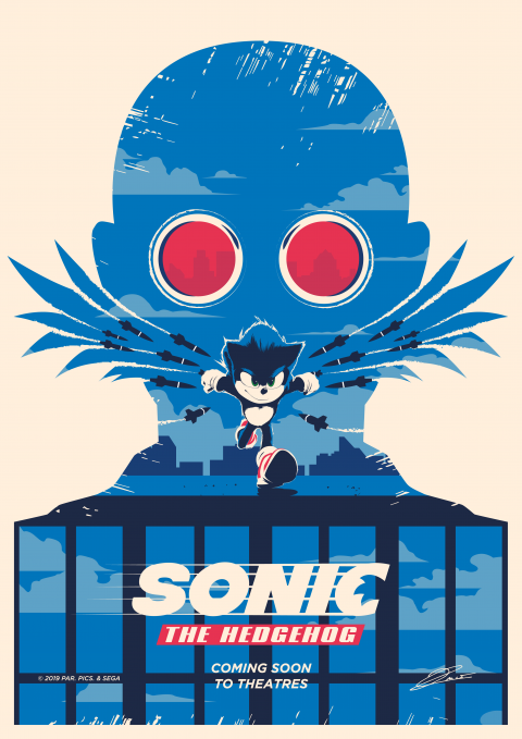 OFFICIAL SONIC Poster Art