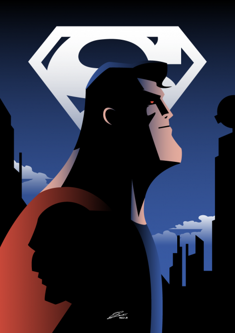 SUPERMAN Animated Series Poster Art