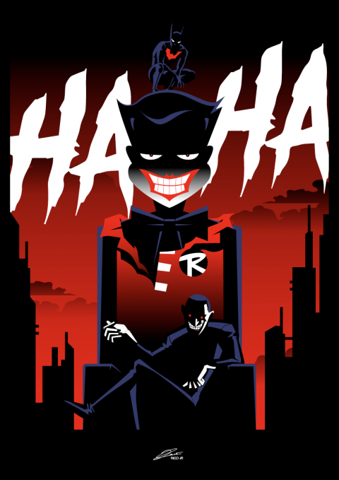 BATMAN BEYOND: Return of the JOKER Poster Art