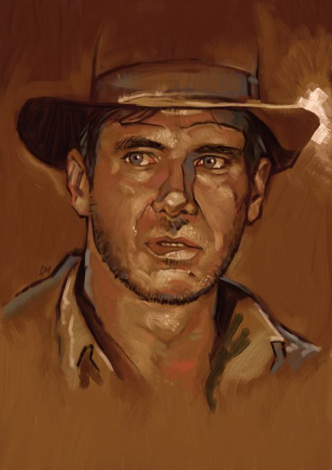 Indy loose painting