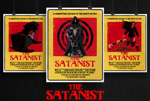 The Satanist 70's Exploitation or Pulp Style Horror Film Poster Template