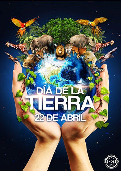 G-SUS ART DÍA DE LA TIERRA, EARTH DAY ART PRINT