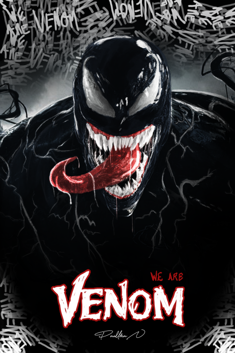 WE ARE VENOM. Digital painted poster