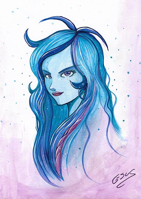 """G-sus art """"Random girl"""" art print"""
