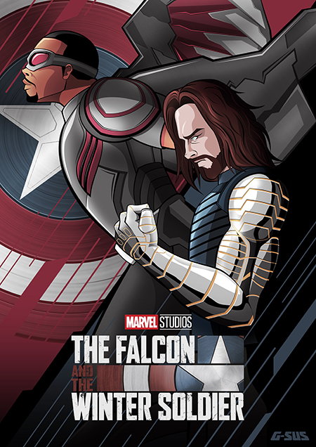 G-SUS ART FALCON AND THE WINTER SOLDIER ART PRINT