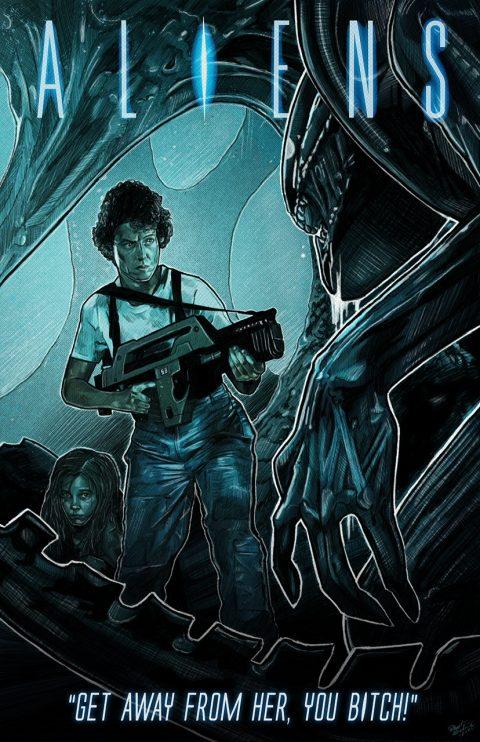 Aliens (1986) Custom Poster