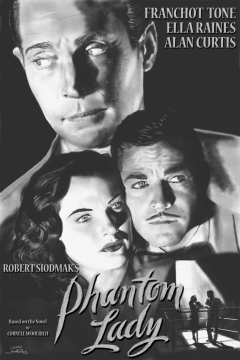 Jauntworks Phantom Lady 1944 Alternative Movie Poster