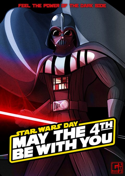 G-SUS ART STAR WARS DAY – MAY THE 4TH BE WITH YOU – ART PRINT