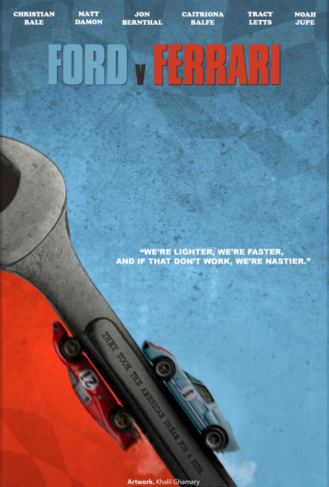 Ford v Ferrari – Minimalist Movie Poster