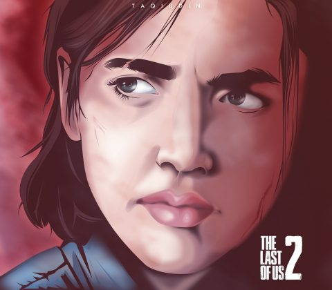 ellie in tlou part 2 portrait fanart