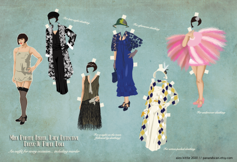Miss Fisher Paper Doll
