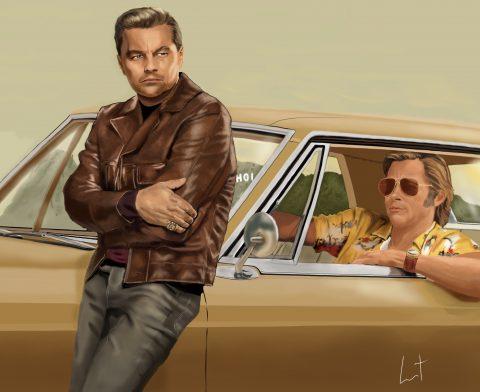 Rick «fucking» Dalton and Cliff Booth