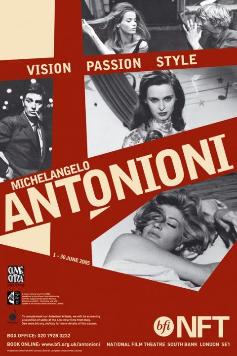 BFI Michelangelo Antonioni Season Poster