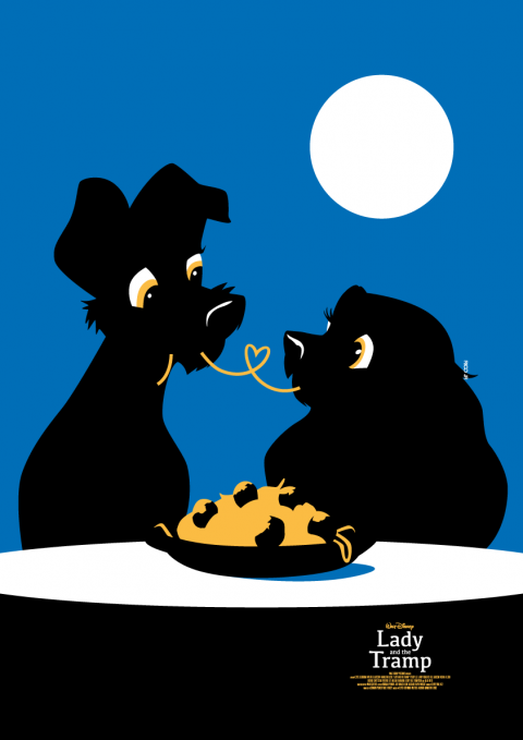 LADY AND THE TRAMP Poster Art
