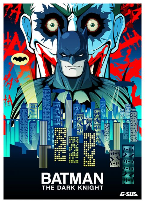 G-SUS ART BATMAN VS JOKER ART PRINT