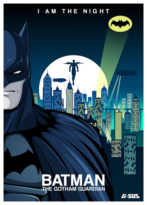 G-SUS ART BATMAN ART PRINT