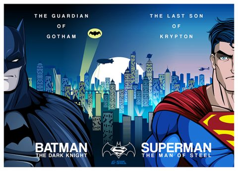 G-SUS ART BATMAN VS SUPERMAN ART PRINT
