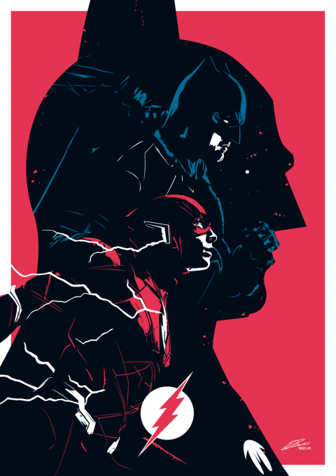 BATMAN/FLASH Multiverse Poster Art