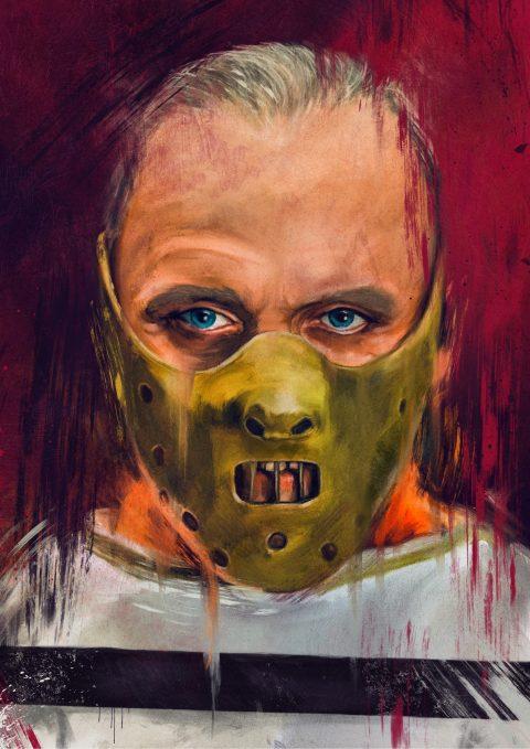 Hannibal Lecter portrait