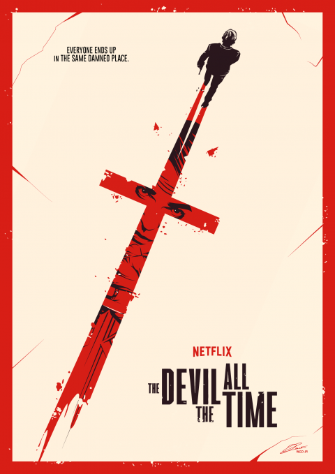 THE DEVIL ALL THE TIME Poster Art