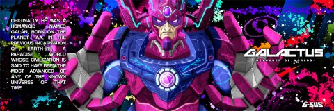 G-SUS ART GALACTUS DEVOURER OF WORLDS INSTAGRAM ART PRINT