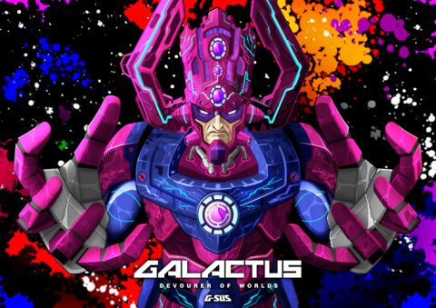 G-SUS ART GALACTUS DEVOURER OF WORLDS V1 ART PRINT