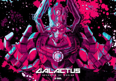 G-SUS ART GALACTUS DEVOURER OF WORLDS V2 ART PRINT