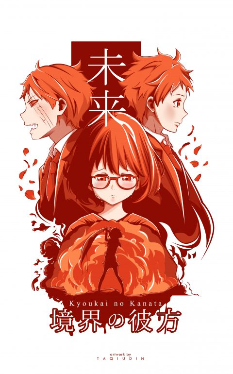 kyoukai no kanata alternate poster