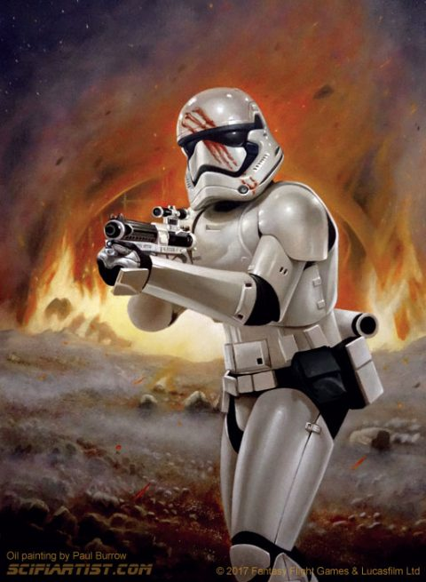 Finn – First Order Stormtrooper Oil Painting