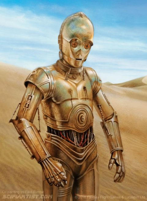 Made to suffer – C-3PO oil painting