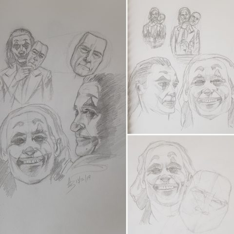 Put on a Happy Face – Prelim Sketches