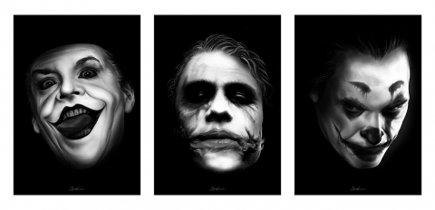 The Three Jokers (Triptych)