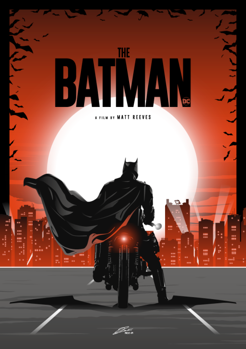 THE BATMAN (Motorcycle) Poster Art