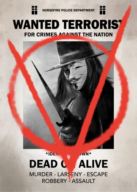 V for Vendetta wanted poster