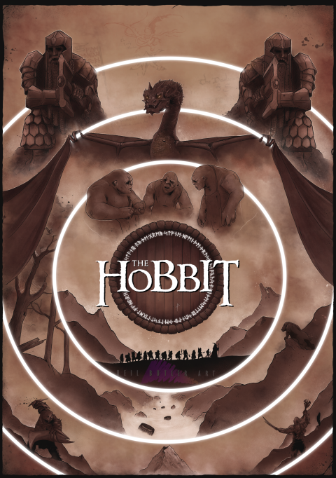 The Hobbit Trilogy Poster