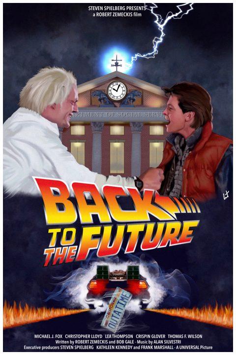 Back to the future – alternative poster #bttf #backtothefuture #robertzemeckis #stevenspielberg