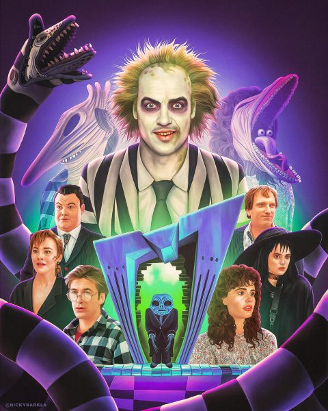 Beetlejuice Illustrated Poster
